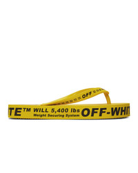 Мужские желтые резиновые сланцы от Off-White