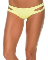 Желтые трусики бикини с вырезом