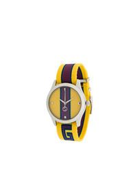 Мужские желтые часы от Gucci