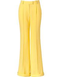 Желтые широкие брюки