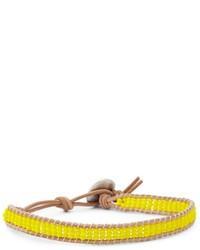 Желтый браслет из бисера
