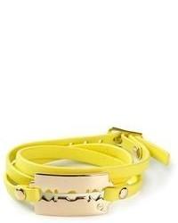 Желтый браслет от McQ by Alexander McQueen
