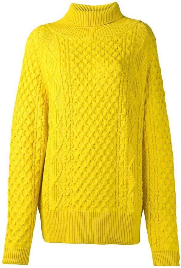женский желтый вязаный свитер 59 823 руб Farfetchcom лукастик