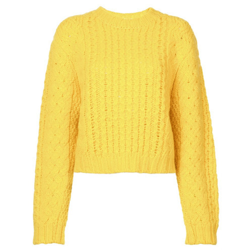 женский желтый вязаный свитер от R13 73 576 руб Farfetchcom