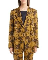 Желтый двубортный пиджак