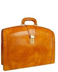 Желтый кожаный портфель