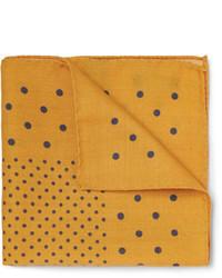 Желтый нагрудный платок в горошек