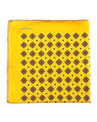 Желтый нагрудный платок с принтом