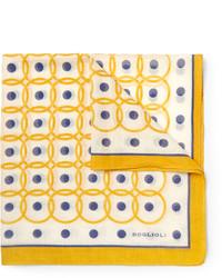 Желтый нагрудный платок с принтом от Boglioli