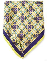 Желтый нагрудный платок с принтом от fe-fe