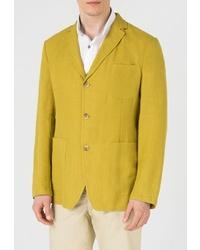 Мужской желтый пиджак от btc