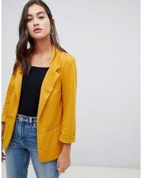 Женский желтый пиджак от New Look