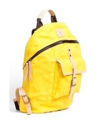 Желтый рюкзак из плотной ткани