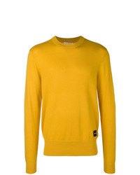 Мужской желтый свитер с круглым вырезом от Calvin Klein