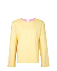 Мужской желтый свитер с круглым вырезом от Comme Des Garcons SHIRT