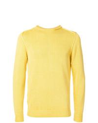Мужской желтый свитер с круглым вырезом от Dondup