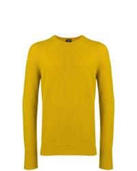 Мужской желтый свитер с круглым вырезом от Drumohr