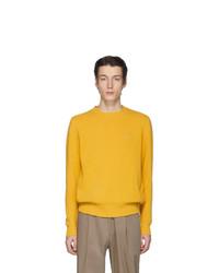 Мужской желтый свитер с круглым вырезом от Etro