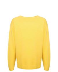 Мужской желтый свитер с круглым вырезом от H Beauty&Youth