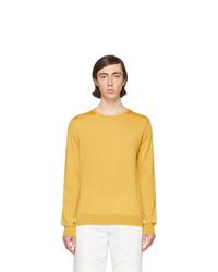 Мужской желтый свитер с круглым вырезом от Lanvin