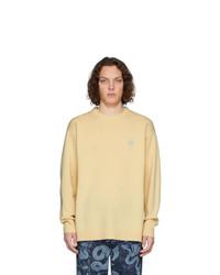 Мужской желтый свитер с круглым вырезом от Loewe