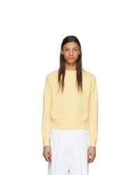 Мужской желтый свитер с круглым вырезом от Random Identities