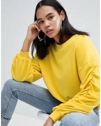 Женский желтый свитшот от Weekday