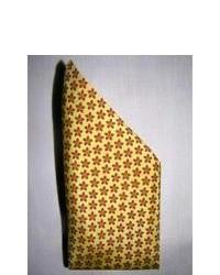 Желтый шелковый шарф с принтом