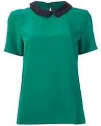 зеленая блуза с коротким рукавом original 1290741