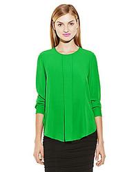 Зеленая блузка с длинным рукавом
