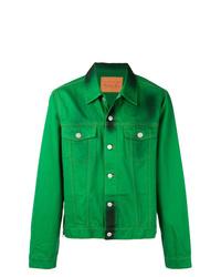 Зеленая джинсовая куртка