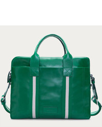 Зеленая кожаная большая сумка