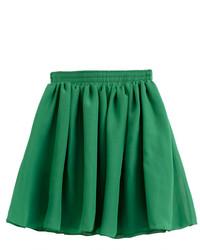 Зеленая короткая юбка-солнце