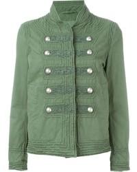 Зеленая куртка в стиле милитари