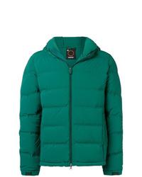 Зеленая куртка-пуховик