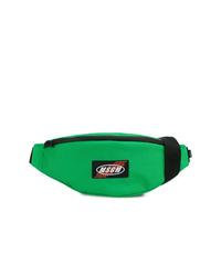Зеленая поясная сумка из плотной ткани
