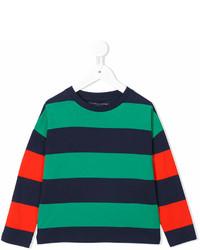Детская зеленая футболка в горизонтальную полоску для девочке от Stella McCartney