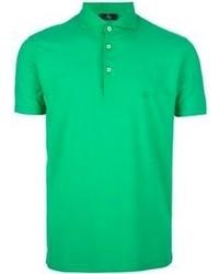 Зеленая футболка-поло