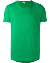 Зеленая футболка с круглым вырезом