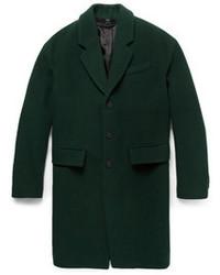 Мужское зеленое длинное пальто от Burberry