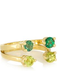 Зеленое кольцо от Delfina Delettrez