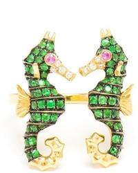 Зеленое кольцо от Leon