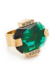Зеленое кольцо от Marni