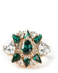 Зеленое кольцо от Shourouk