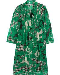 Женское зеленое платье прямого кроя с принтом от Diane von Furstenberg