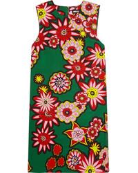 Женское зеленое платье прямого кроя с принтом от House of Holland