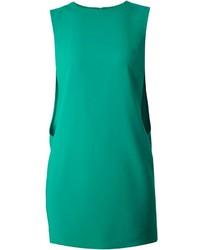 Зеленое платье прямого кроя