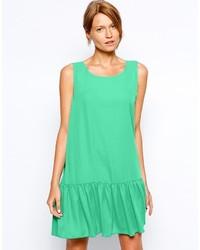 Женское зеленое платье прямого кроя от Love