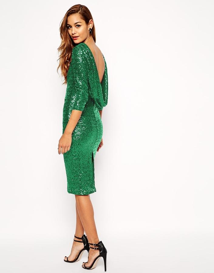 Зеленое платье футляр с чем носить
