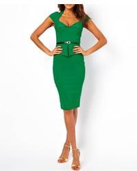 Платье женское зеленое модели фото